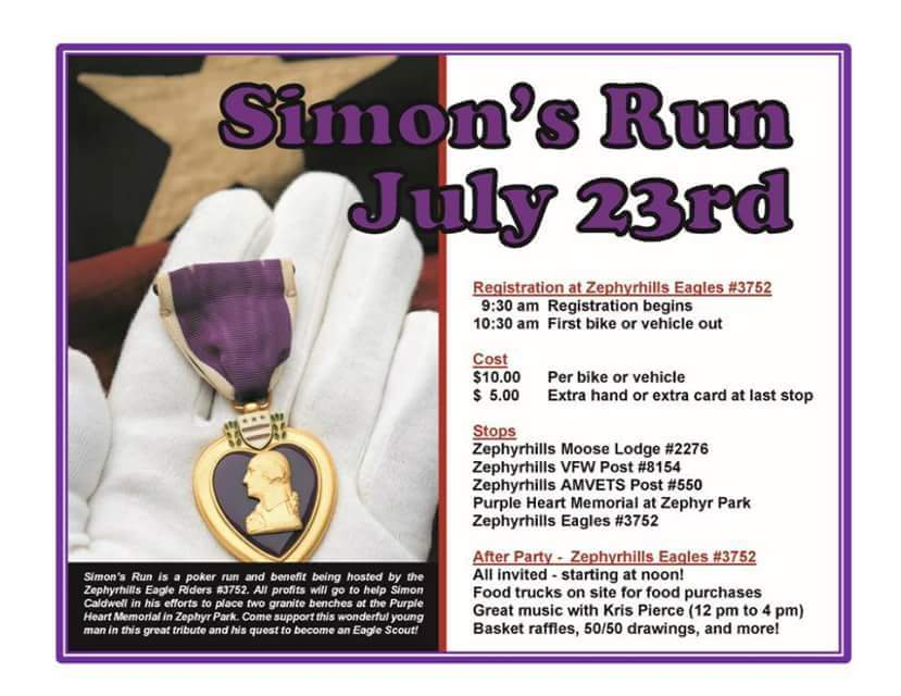 Simon's Run - Zephyrhills - July 23, 2016