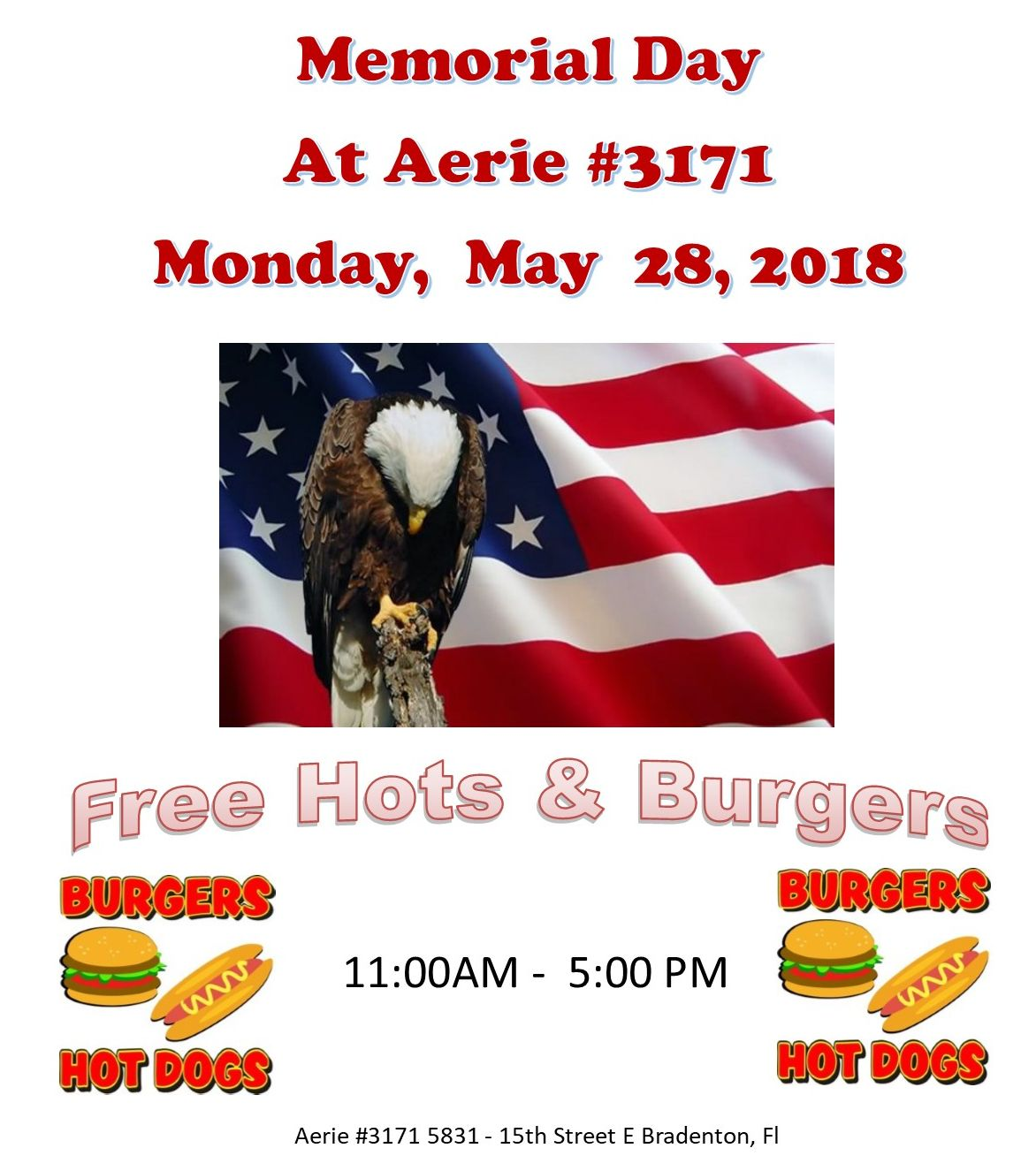 Memorial Day Hots & Burgers
