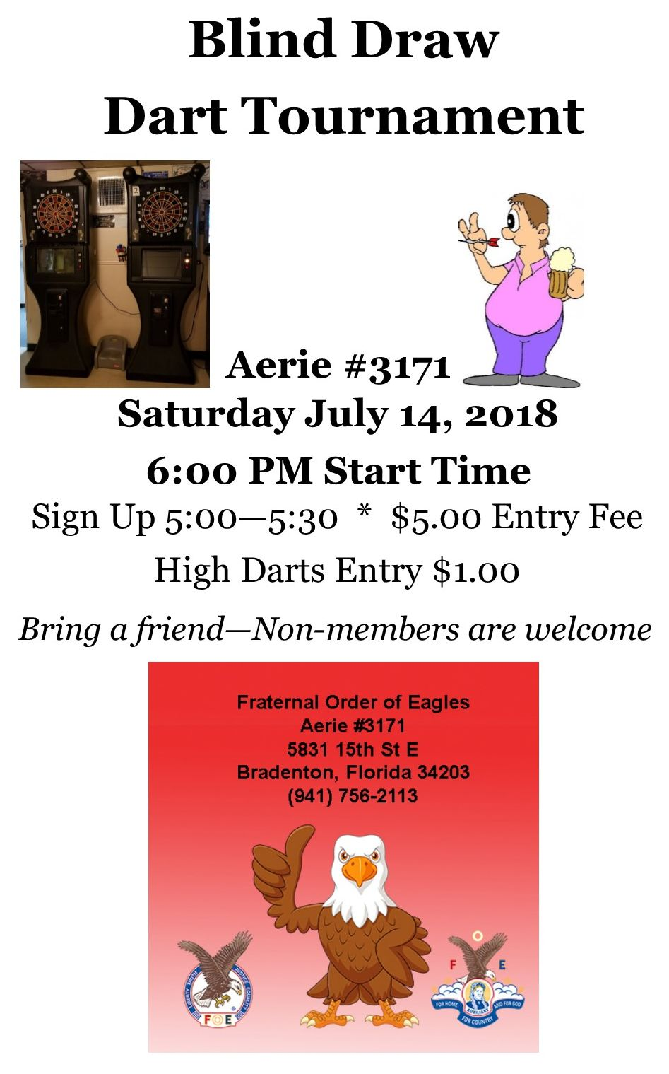 July 2018 Dart Tournament