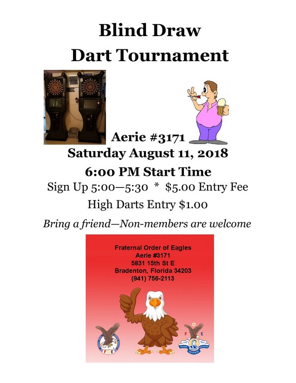 August 2018 Dart Tournament