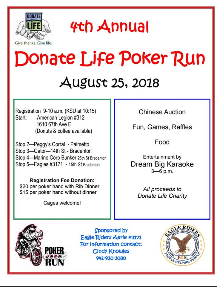 Donate For Life Poker Run