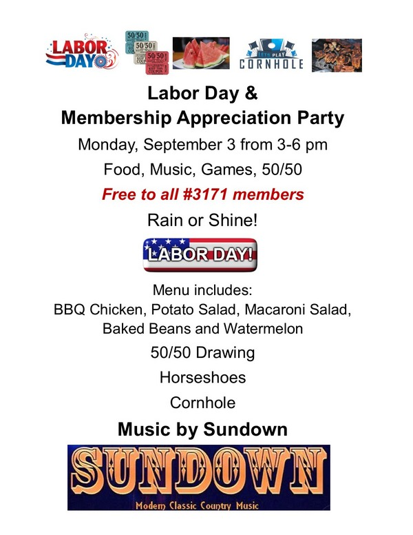 Labor Day & Member Appreciation Day Party 2018