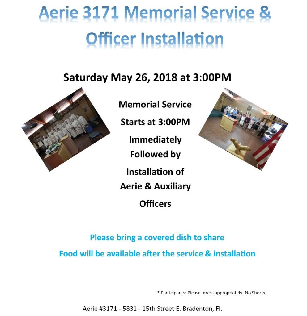 Memorial Service & Joint Officer Installation 2018