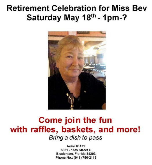 Bev's Retirement Party May 18, 2019