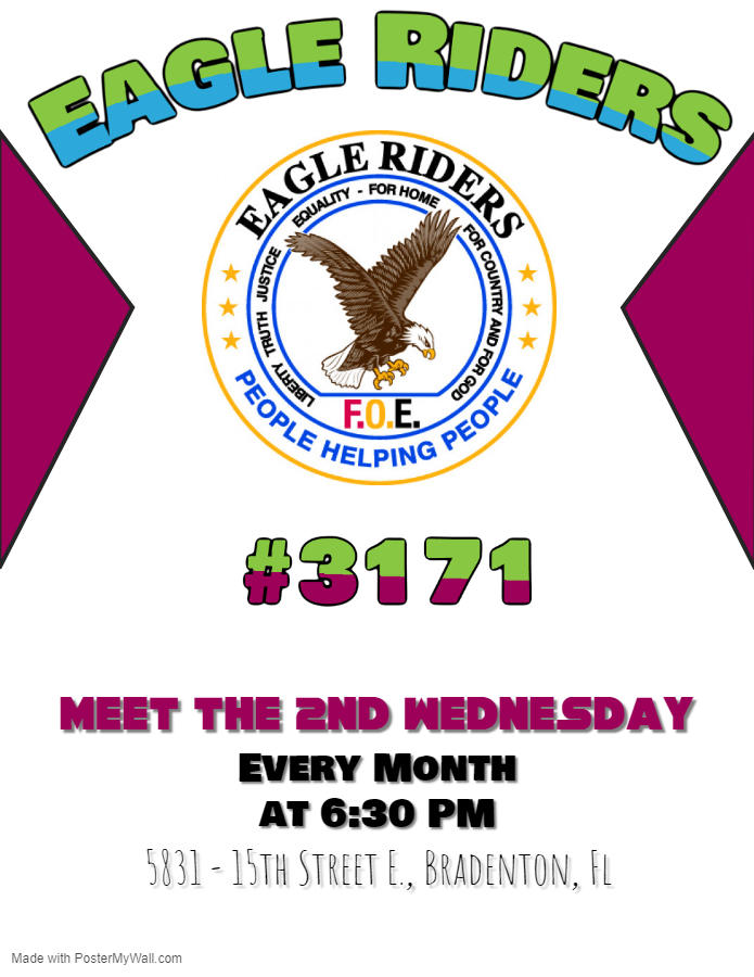 Eagle Riders #3171 Meet the 2nd Wednesday Every Month